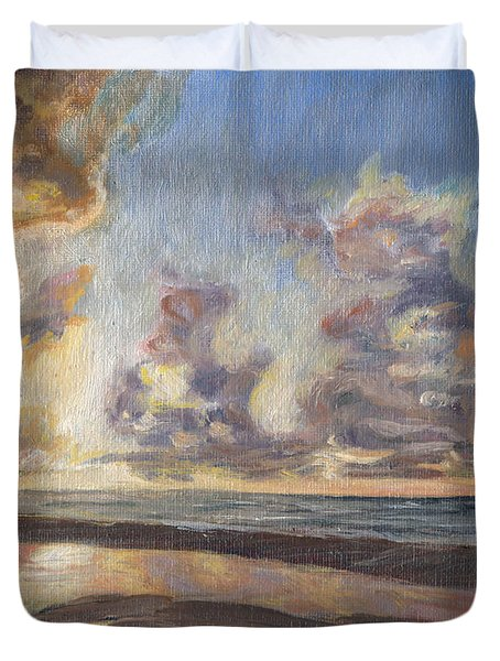 Port Aransas Sunrise Duvet Cover