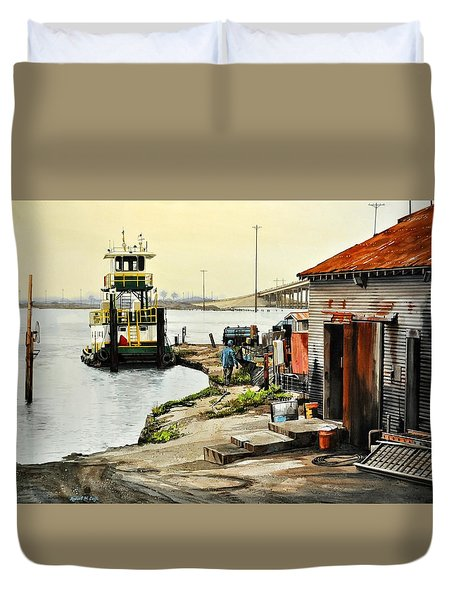 Port Aransas Ways Duvet Cover