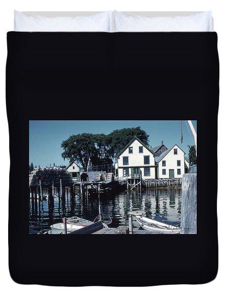 Port Clyde Maine Duvet Cover