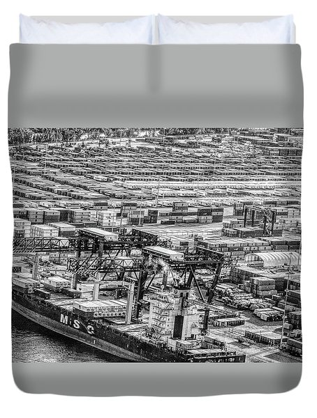 Port Everglades 1 Duvet Cover