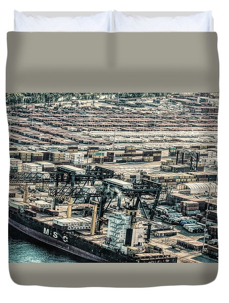 Port Everglades 2 Duvet Cover