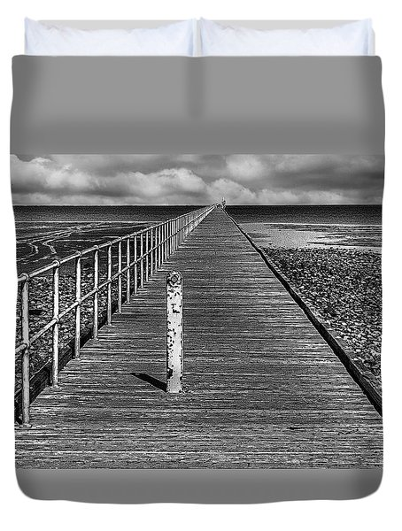 Port Germein Long Jetty Duvet Cover