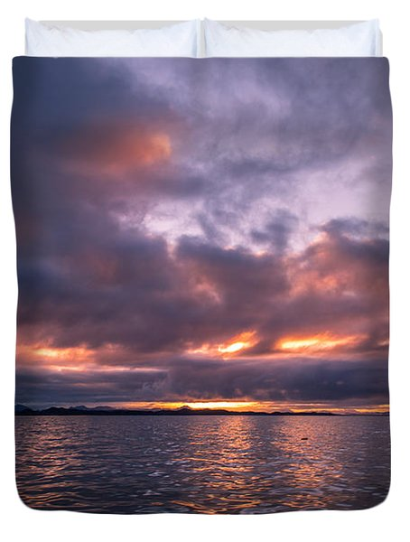 Port Hardy Sunrise Duvet Cover