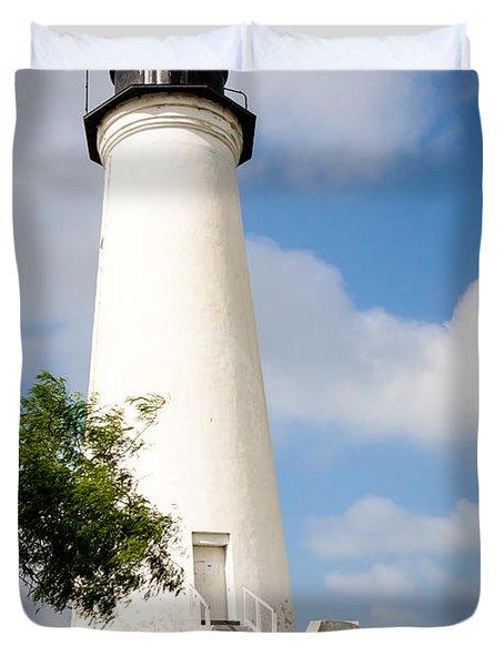 Port Isabel Lighthouse Duvet Cover