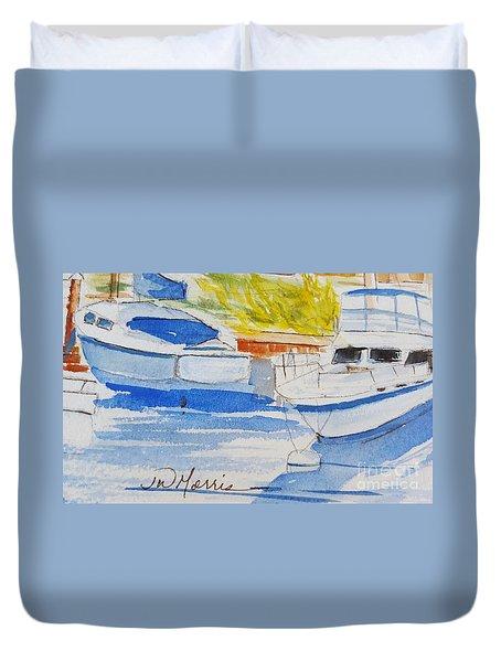 Port Ludlow Marina Duvet Cover
