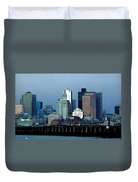 Port Of Boston Duvet Cover