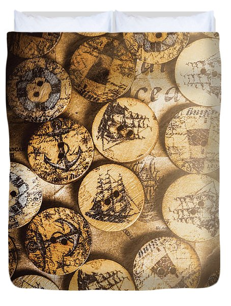 Port Of Corks At The Old Sail Tavern Duvet Cover