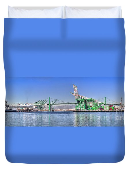 Port Of Los Angeles - Panoramic Duvet Cover
