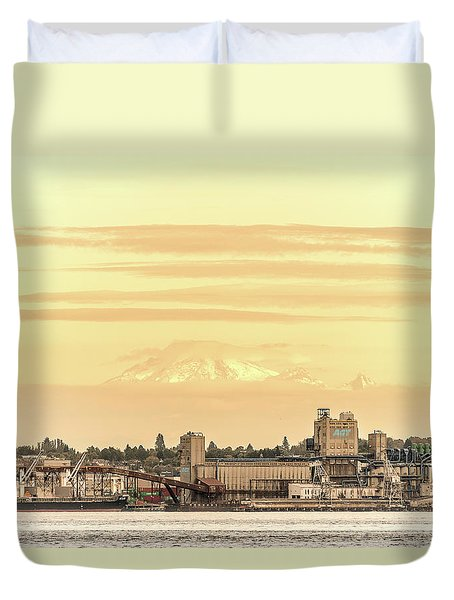 Port Of Vancouver Duvet Cover