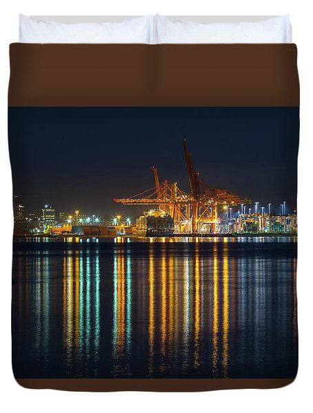 Port Of Vancouver In British Columbia Canada Duvet Cover by David Gn