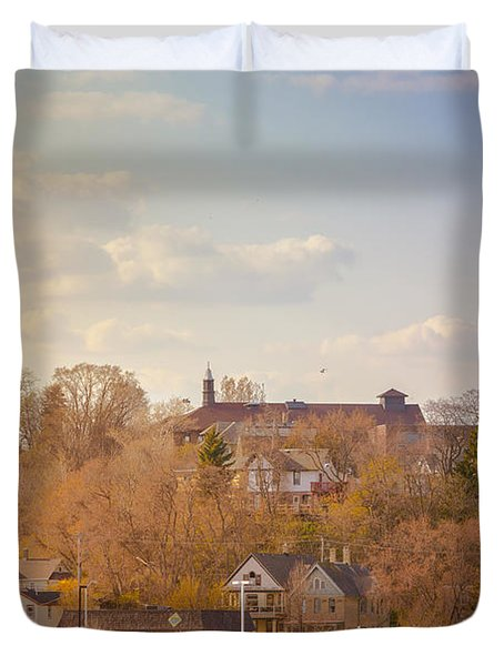 Port Washington Skyline Duvet Cover