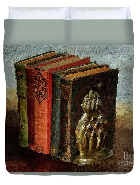 Duvet Cover featuring the digital art Portable Magic by Lois Bryan