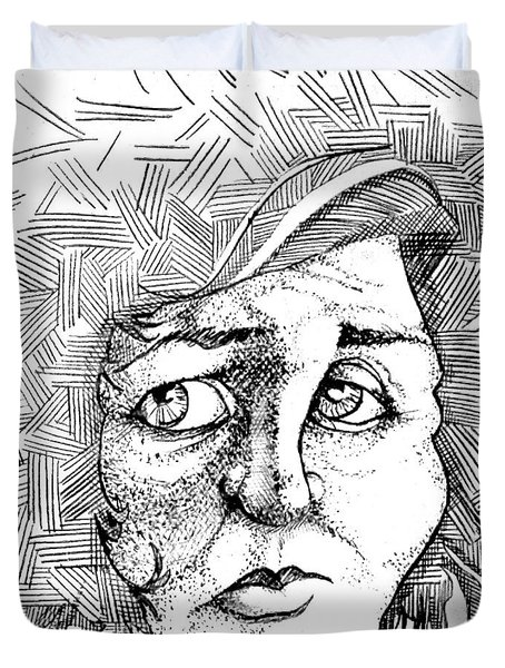 Portait Of A Woman Duvet Cover
