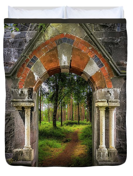 Duvet Cover featuring the photograph Portal To Portumna Forest by James Truett