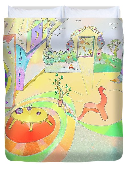 Portals And Perspectives Duvet Cover