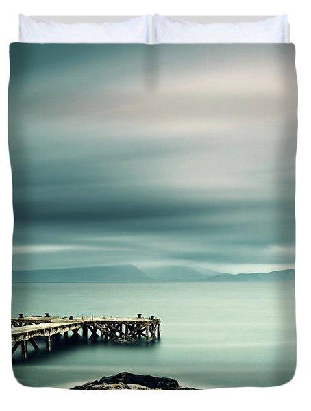 Portencross Pier Duvet Cover