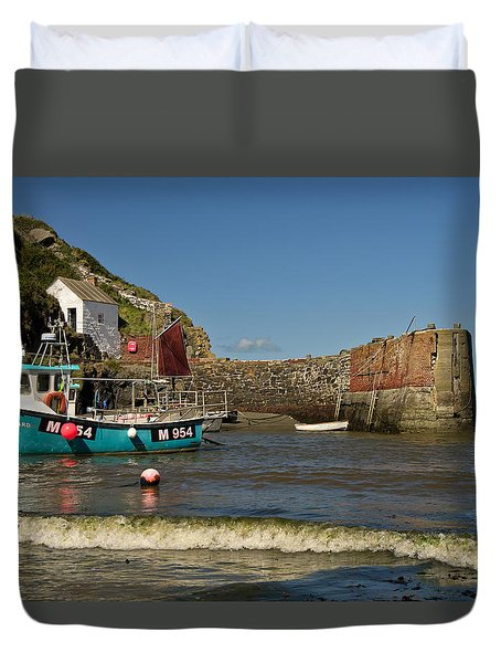 Porthgain In Wales Duvet Cover