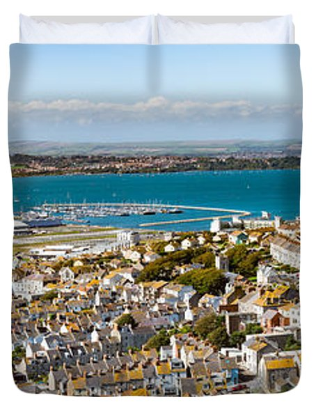 Portland And Chesil Beach Duvet Cover