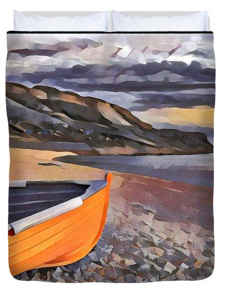 Portland Chesil Beach Duvet Cover