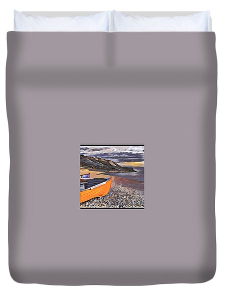 Portland Chesil Beach Duvet Cover