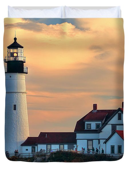 Portland Head Light-cape Elizabeth, Maine Duvet Cover