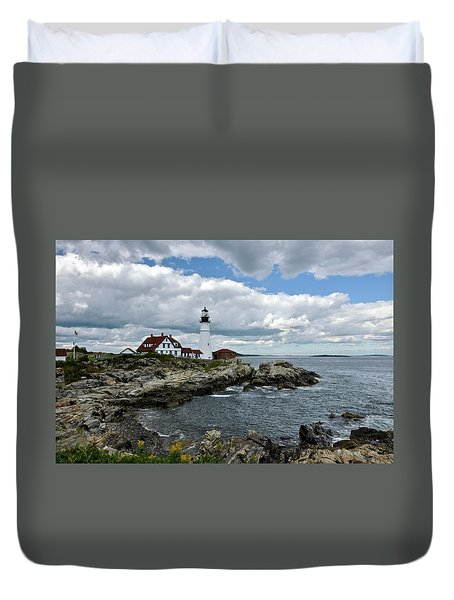 Portland Head Light, Starboard Duvet Cover