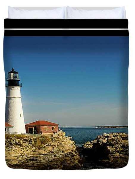 Portland Head Lighthouse 7 Duvet Cover by Sherman Perry
