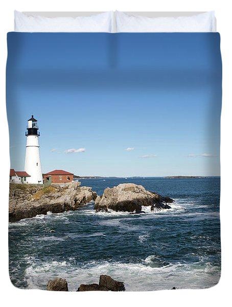Portland Head Lighthouse Maine Duvet Cover