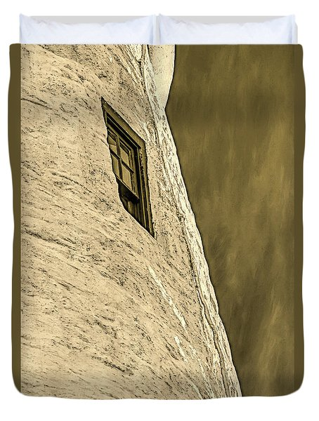 Portland Head Lighthouse Window Detail Duvet Cover