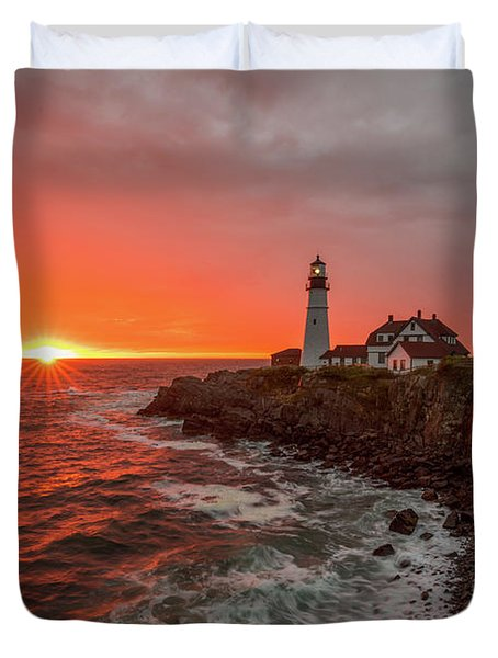 Portland Head Sunrise Duvet Cover