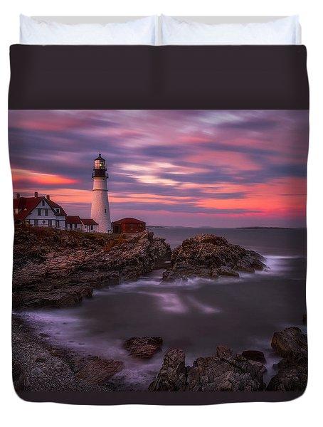 Portland Head Sunset Duvet Cover