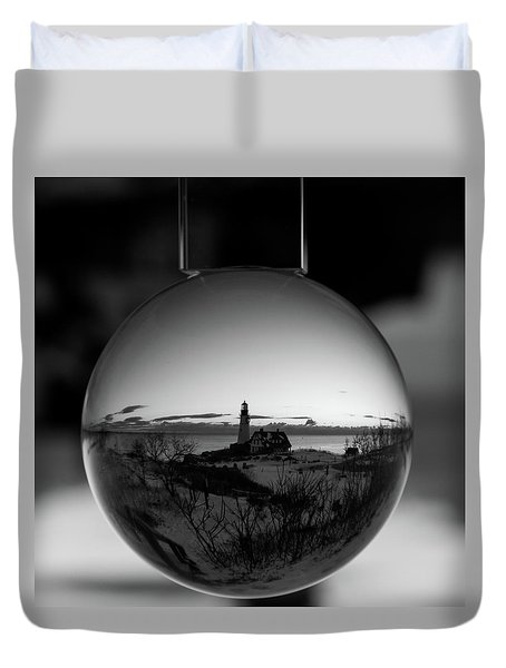 Portland Headlight Globe Duvet Cover