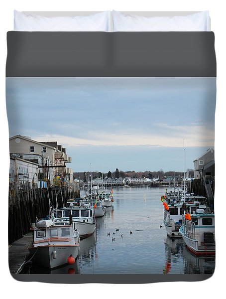Portland Maine  Duvet Cover