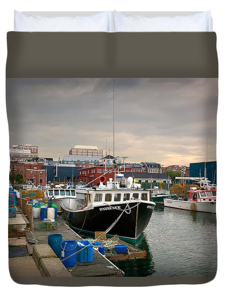 Portland Maine Waterfront Duvet Cover by Denis Lemay