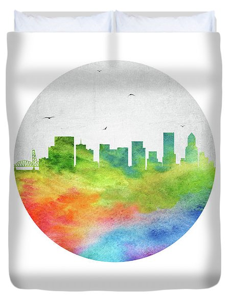 Portland Skyline Usorpo20 Duvet Cover