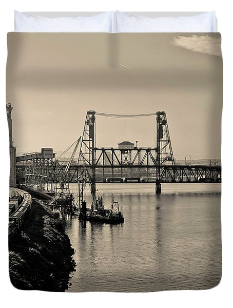 Portland Steel Bridge Duvet Cover