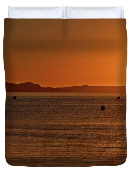 Portland Sunrise Duvet Cover by Stephen Melia