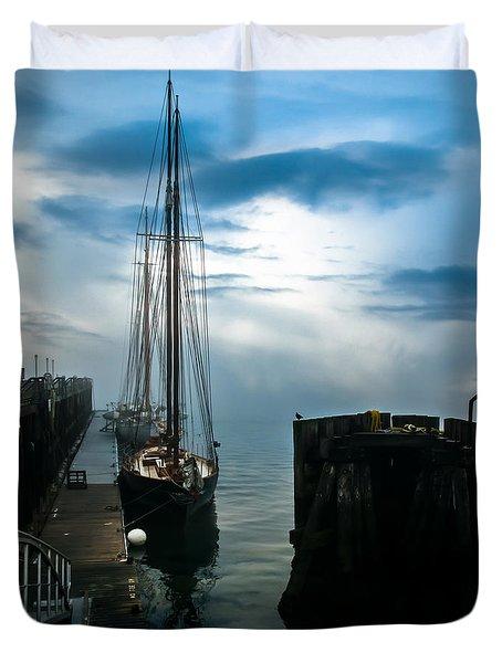 Portland Sunrise Duvet Cover by Bob Orsillo