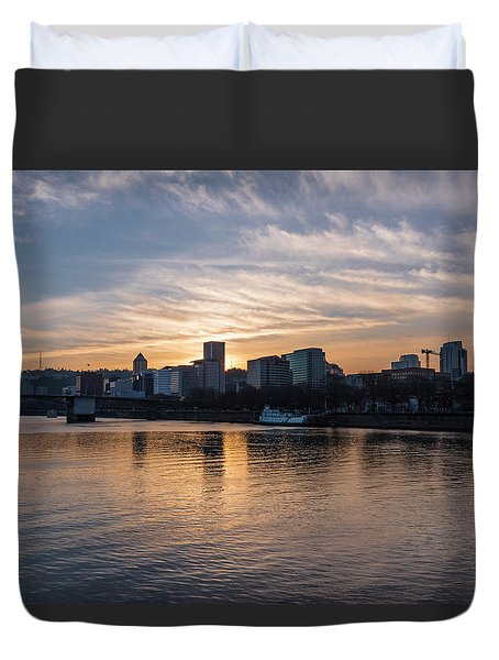 Portland Sunset Duvet Cover