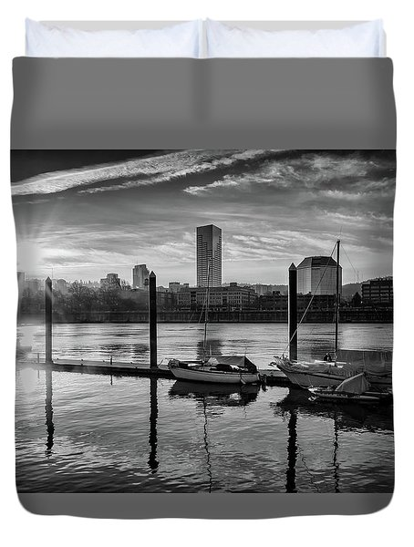 Portland Waterfront  Duvet Cover