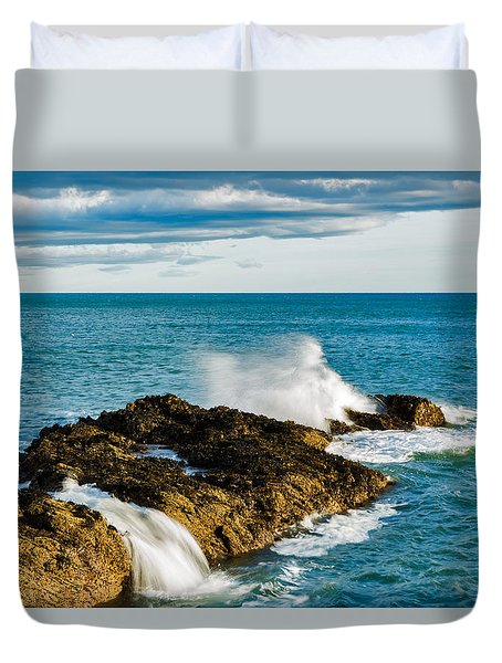 Duvet Cover featuring the photograph Portlethen, Scotland by Ian Middleton