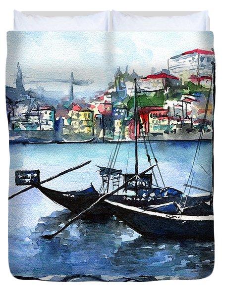 Porto Rabelo Boats Duvet Cover