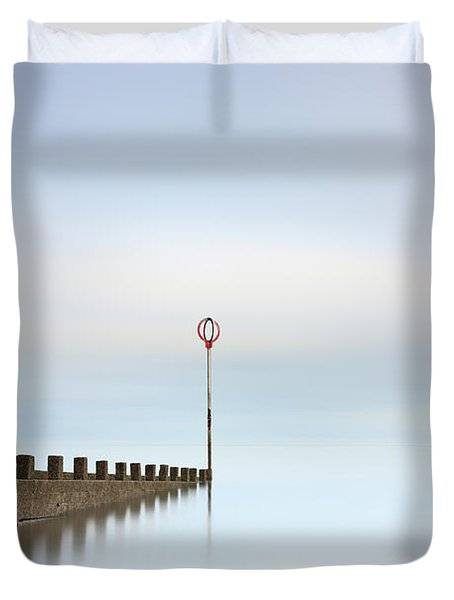 Duvet Cover featuring the photograph Portobello Long Exposure by Grant Glendinning