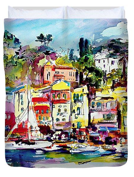 Portofino Italian Riviera Duvet Cover