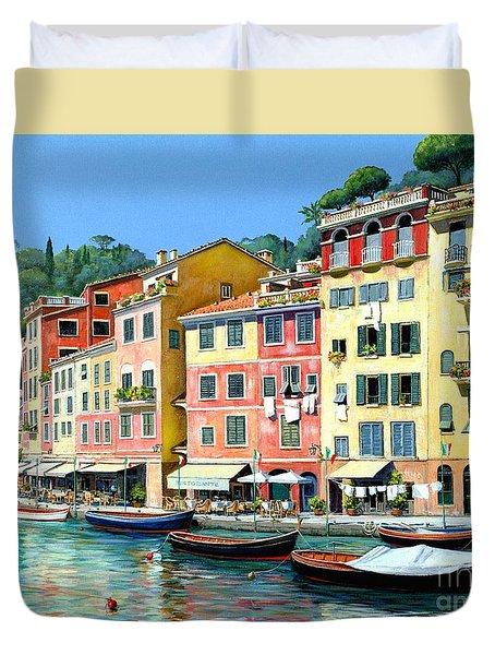 Portofino Sunshine 30 X 40 Duvet Cover by Michael Swanson