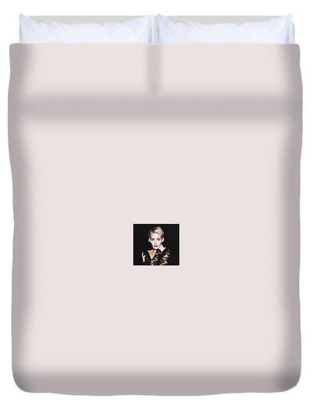 Portrait 3 Duvet Cover by Laura Michelle Corbin