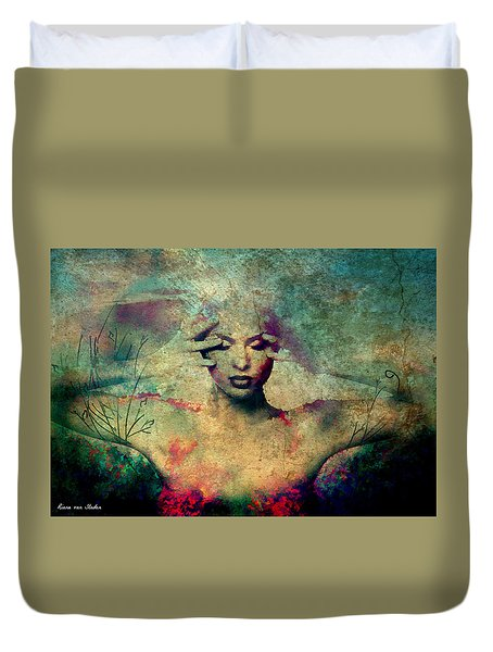 Duvet Cover featuring the digital art Portrait 42 by Riana Van Staden