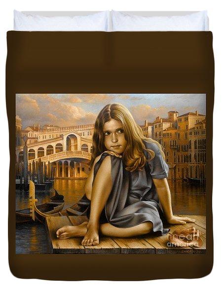 Portrait Duvet Cover by Arthur Braginsky