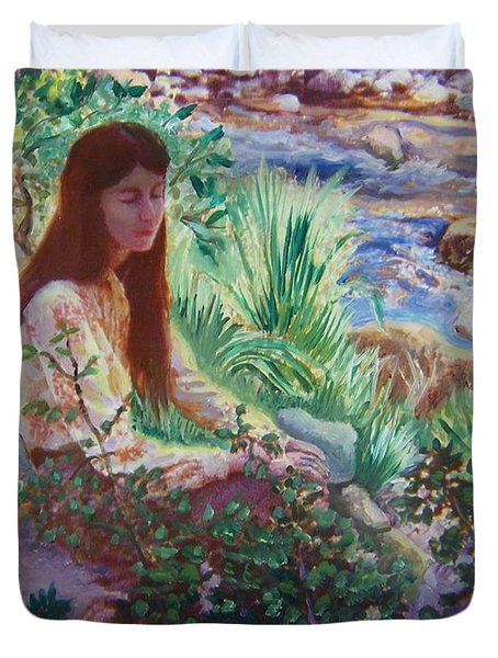 Portrait By The Stream Duvet Cover
