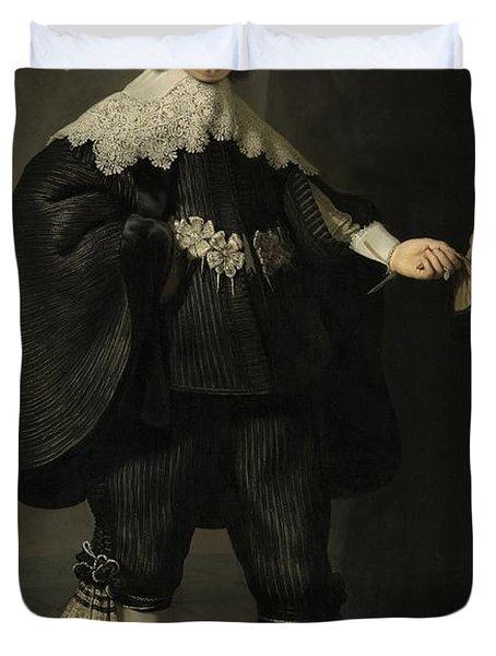Portrait De Marten Soolmans, 1634 Duvet Cover
